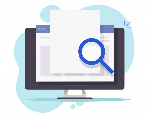 Search scan data online internet Web document