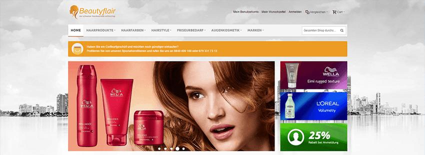 BeautyFlair – neuer Shop online für Coiffeur Zubehör