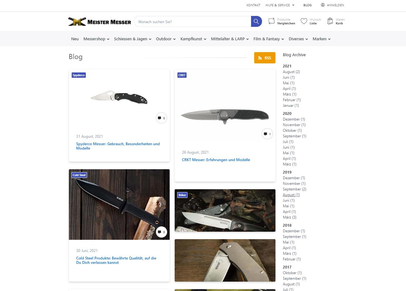 Blogartikel Meister Messer