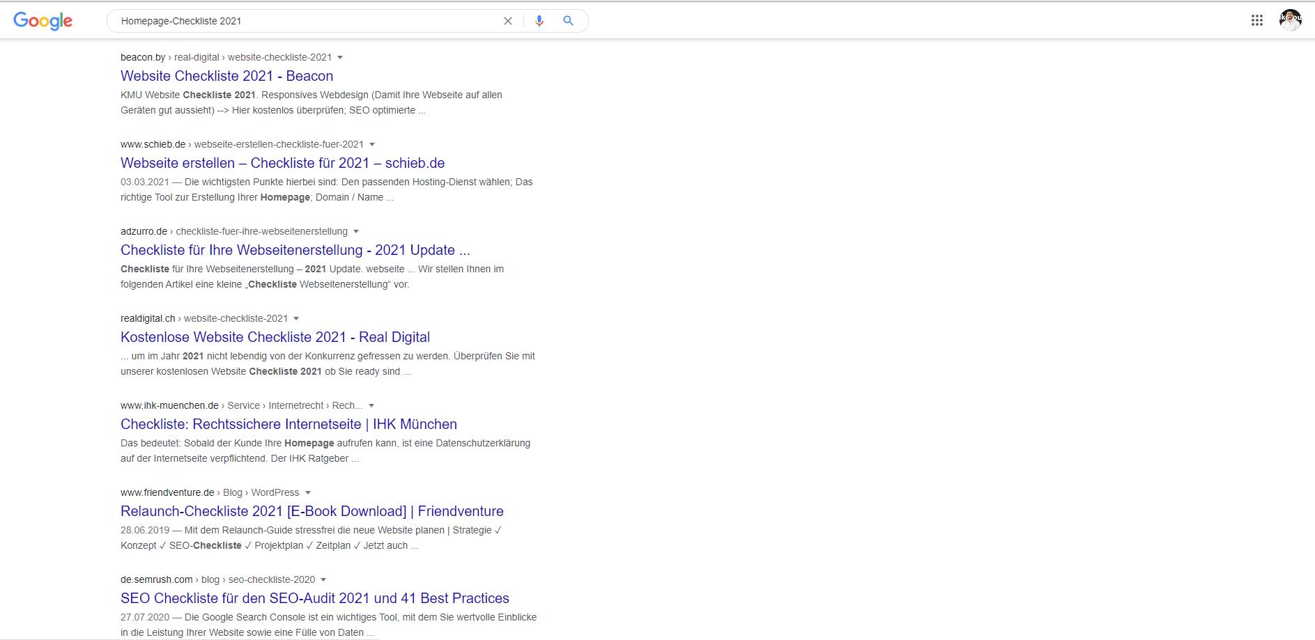 Inhalte von andere Konkurrenten