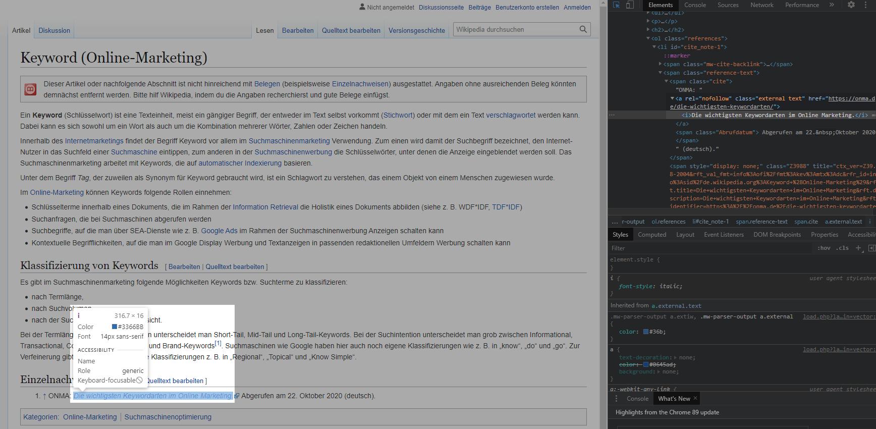 Nofollow Wikipedia Links