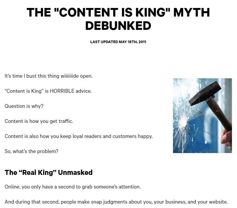 """Content is King"" - Mythos Screenshot"