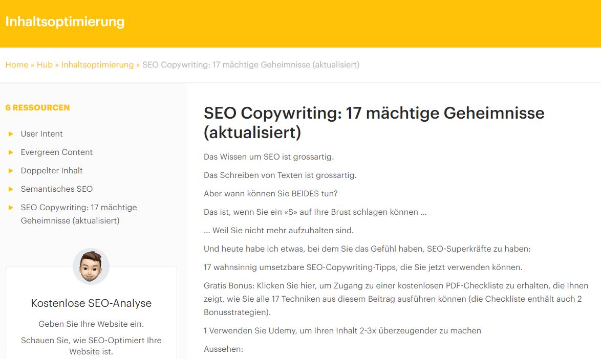 SEO Copywriting - Link Bait Screenshot