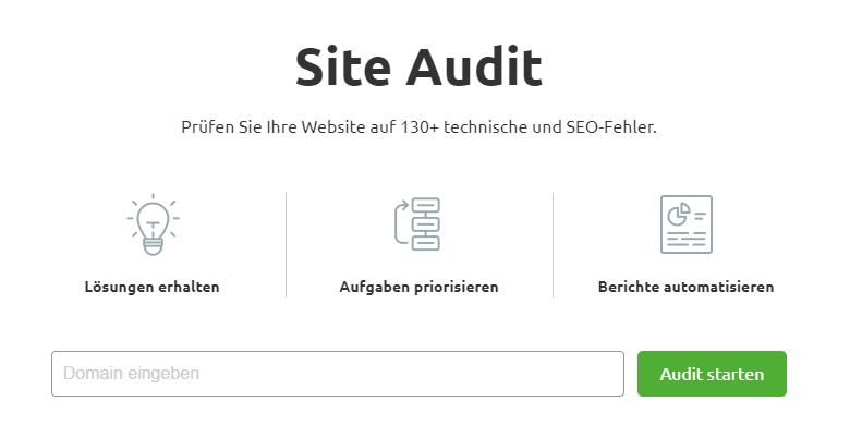 Site Audit SEMrush