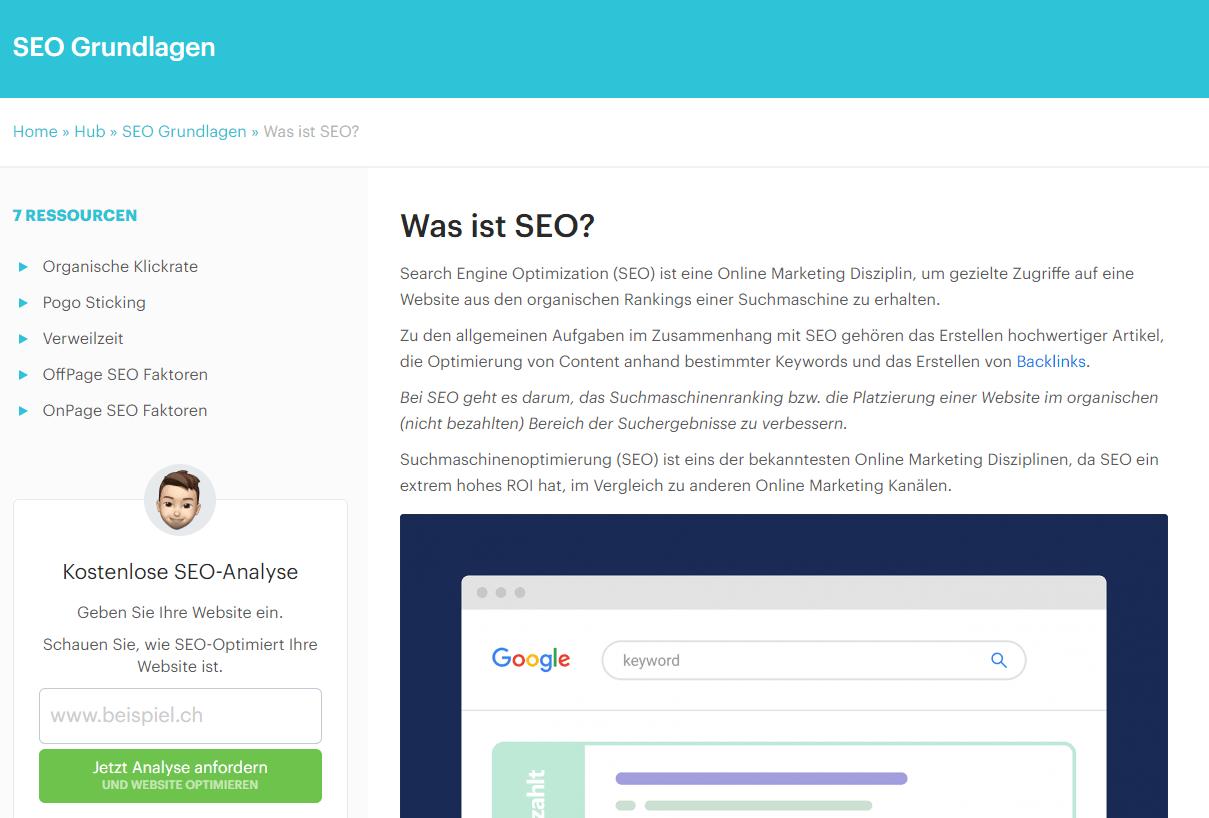Was ist SEO - Beispiel Screenshot