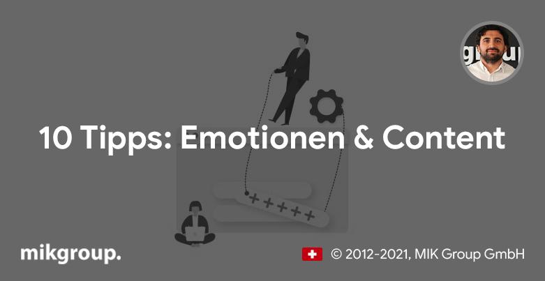 10 Tipps: Emotionen & Content