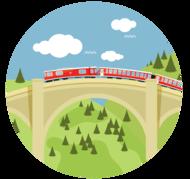 Zug in der Schweiz